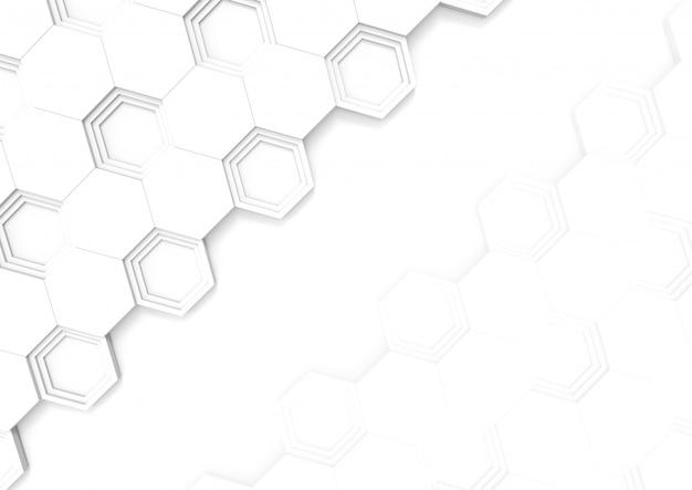 Modèle de tuile de forme hexagonale moderne sur fond de l'espace de copie. Photo Premium