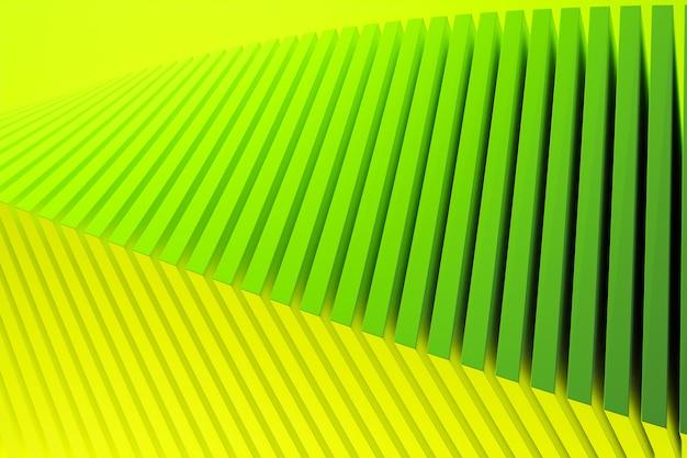 Modèle Vert Illustration 3d Dans Un Style Ornemental Géométrique. Photo Premium