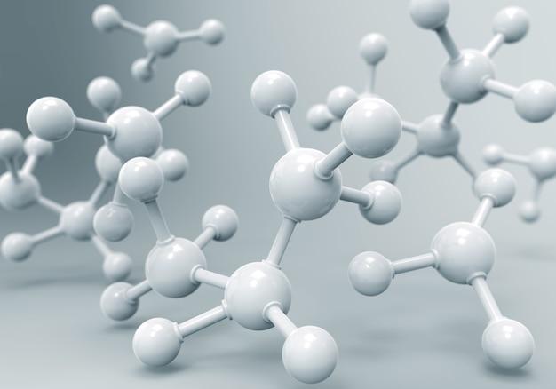 Molécules D'adn Ou Atome Photo Premium
