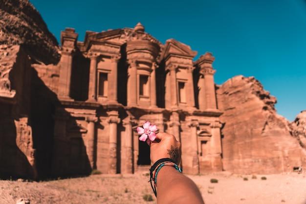 Monastère de petra, jordanie Photo Premium