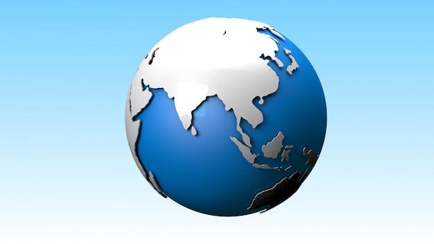 Monde 3d Photo Premium