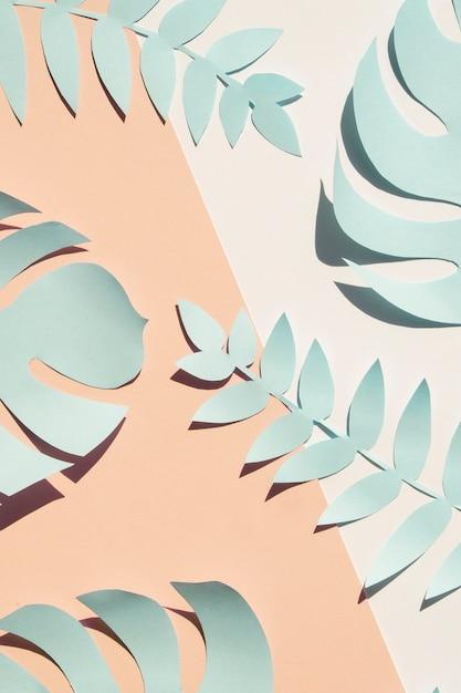 Monstera Bleu Artificiel Fait Maison Feuilles à Plat Photo gratuit