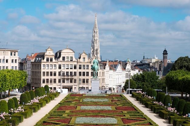 Le mont des arts à bruxelles, belgique Photo Premium