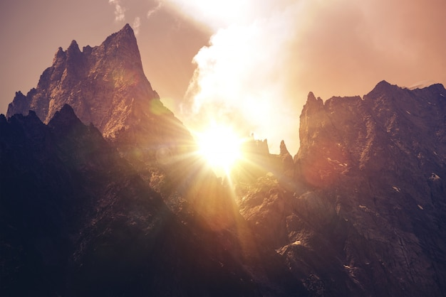 Mont Blanc Massif Sunset Photo gratuit