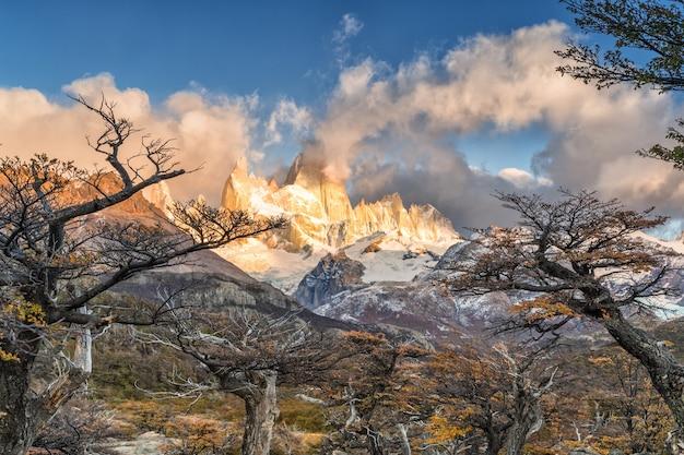 Mont Fitz Roy Dans Le Parc National Los Glaciares, El Chalten, Patagonie, Argentine. Photo Premium