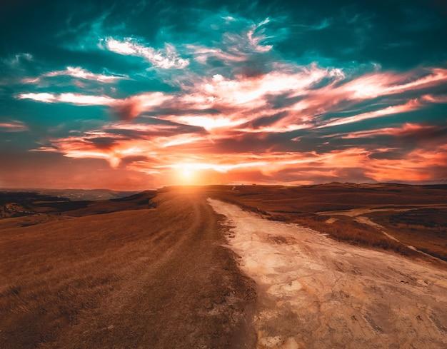 Montagne Da Boa Vista Pendant Un Beau Coucher De Soleil Photo gratuit