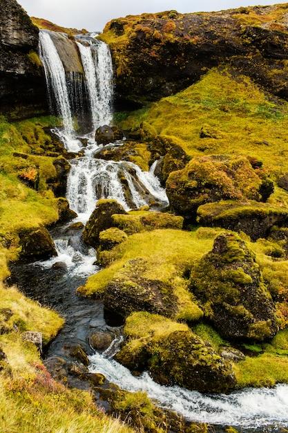 Montagne et rivière Photo gratuit