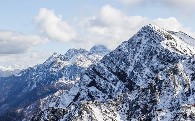 Montagne, rose, pic, automne, sotchi, russie Photo Premium