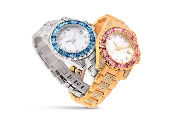 Montres De Luxe Sur Blanc Photo Premium