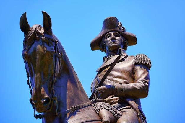 Monument boston common george washington Photo Premium