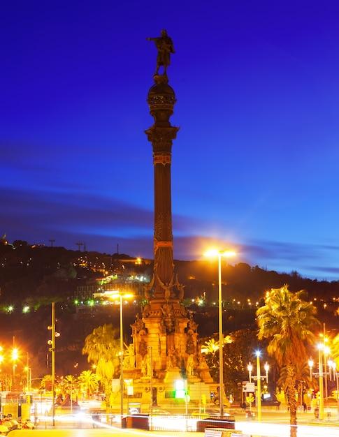 Monument de columbus. barcelone Photo gratuit