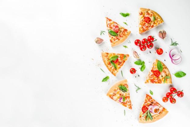 Morceaux De Pizza Au Fromage Margarita Photo Premium