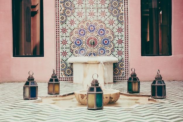 Moroccan Afrique Intérieure Piscine Ornée Photo gratuit