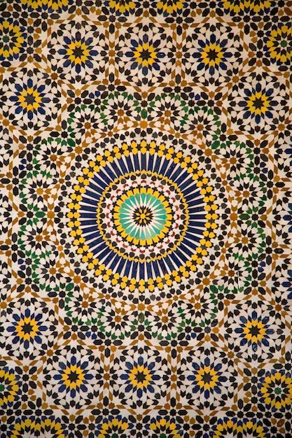 Mosaïque En Céramique Marocaine Photo Premium