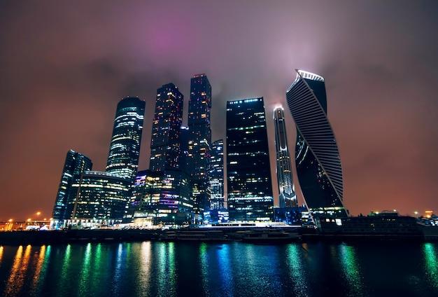 Moscou-ville. centre d'affaires international de moscou. russie Photo Premium