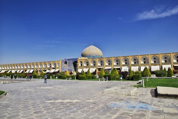 Mosquée Sur La Place Naqsh-e Jahan à Ispahan, En Iran Photo Premium
