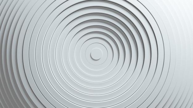 Motif Abstrait De Cercles Avec Effet De Déplacement. Animation D'anneaux Propres Blancs. Photo Premium