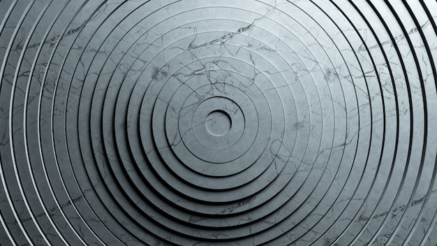Motif Abstrait De Cercles Avec Effet De Déplacement. Animation D'anneaux Purs En Marbre Texturé. Photo Premium