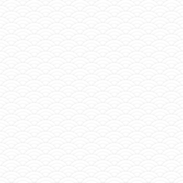 Motif de cercles sans couture blanc asiatique Photo Premium