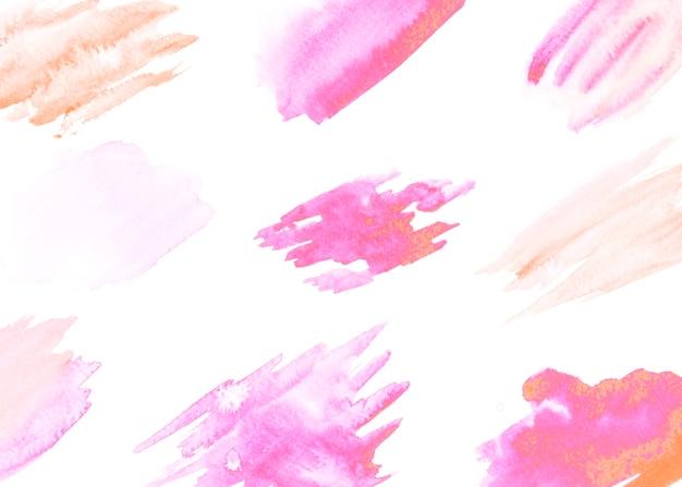 Motif de coup de pinceau isolé sur fond blanc Photo gratuit