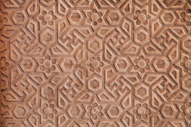 Motif géométrique sur le fort rouge Photo Premium
