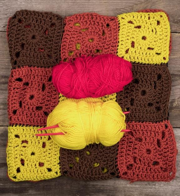 Motif en laine colorée Photo gratuit