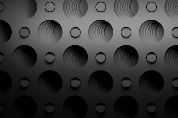 Motif Noir Abstrait Avec De Grands Trous Photo Premium