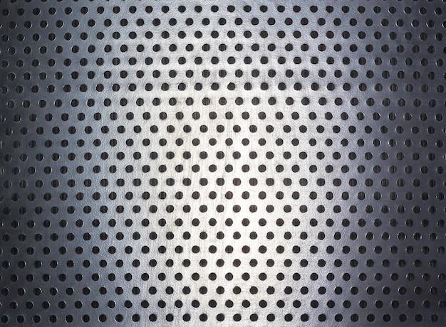 Motif à pois et texture sur acier Photo Premium