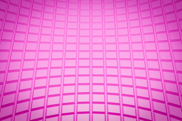 Motif Rose Illustration 3d, Cellule Dans Un Style Ornemental Géométrique à Partir De Rayures. Photo Premium