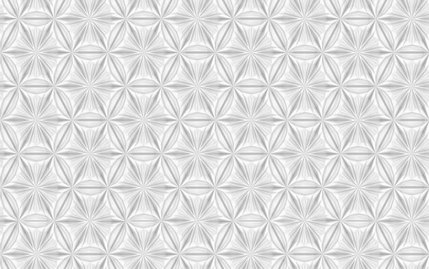 Motif Sans Soudure Géométrique Argent Photo Premium