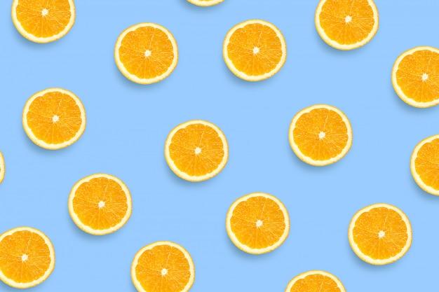 Motif de tranches d'orange fraîches Photo Premium