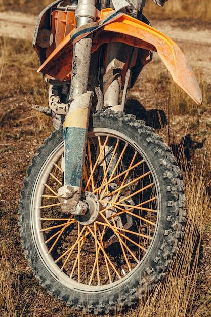 Motocross bike - détails Photo Premium