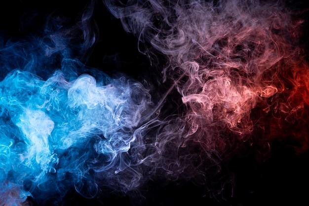 Mouvement Abstrait Gelé D'explosion Fumée Multiple Bleu Photo Premium