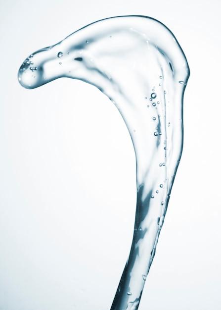 Mouvement De L'eau Abstraite Sur Gros Plan Fond Blanc Photo gratuit