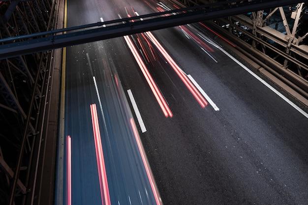 Mouvement flou sur le gros plan du pont Photo gratuit