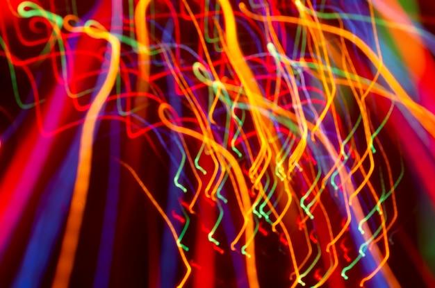 Mouvement de lumière colorée floue Photo Premium