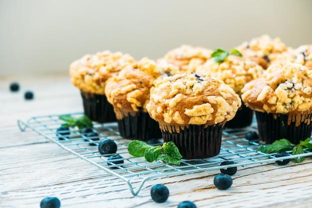 Muffin aux myrtilles Photo gratuit