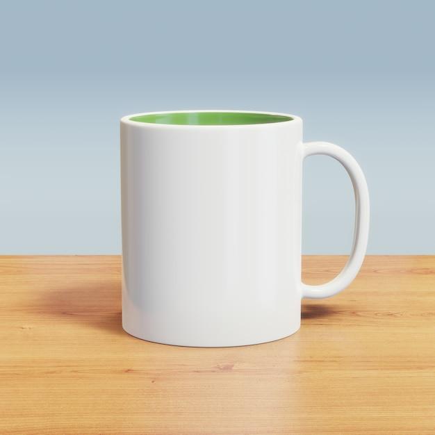 Mug Blanc Sur La Table Photo Premium