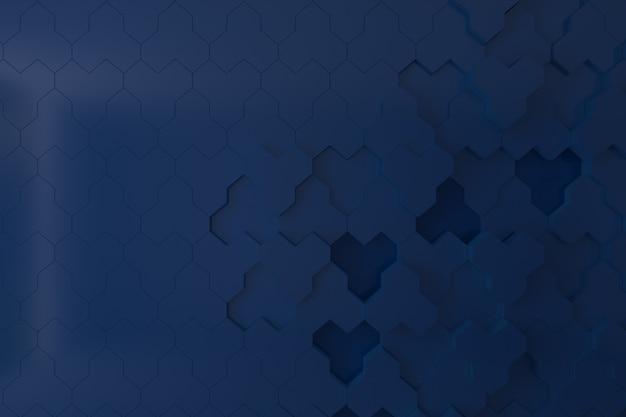 Mur 3d bleu foncé pour le fond, la toile de fond ou le papier peint Photo Premium