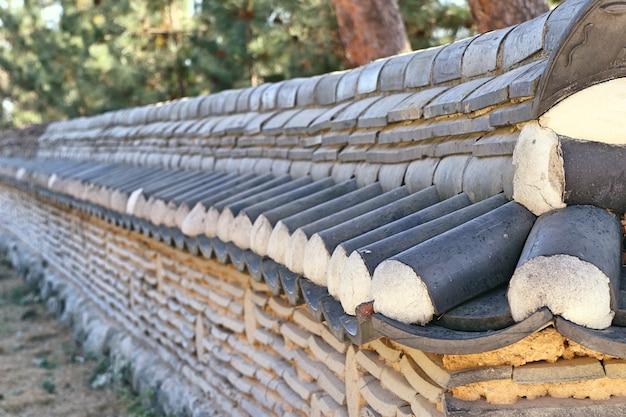 Mur D'architecture Traditionnelle Coréenne Photo Premium