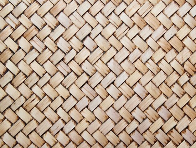 Mur De Bambou De Style Thaïlandais Natif Photo Premium