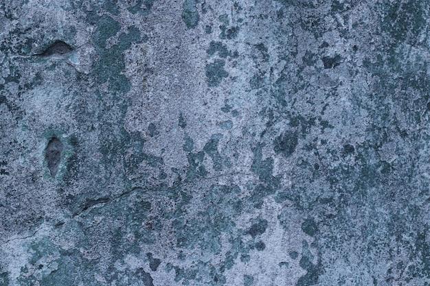 Mur De Béton Bleu Avec Espace De Copie De Surface De Texture De Taches Pour La Conception Ou Le Texte, Format Horizontal Photo Premium