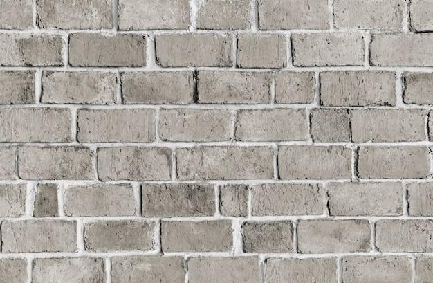 Mur de brique gris texturé Photo gratuit