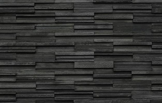 Mur de brique noire ardoise fond de texture Photo Premium