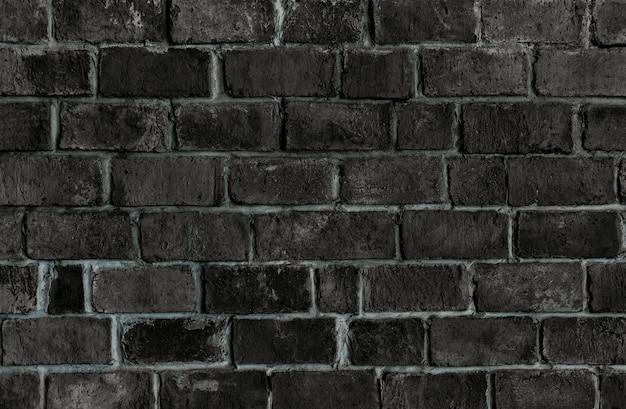Mur de brique texturé noir Photo gratuit