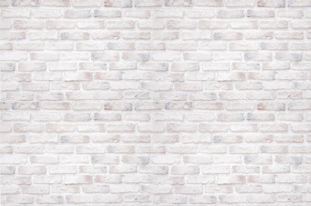 Mur de briques blanches pour le fond et la texture. Photo Premium