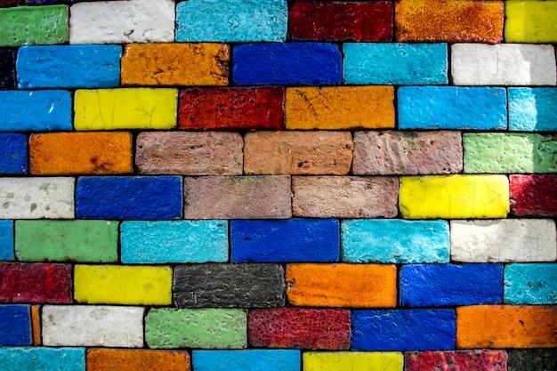 Mur De Briques Colorées Fond Modèle Texture Vintage Photo Premium