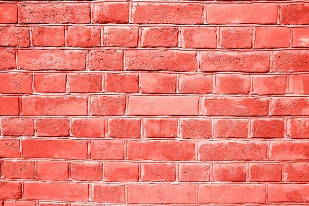Mur de briques coralliennes fond texturé. Photo Premium