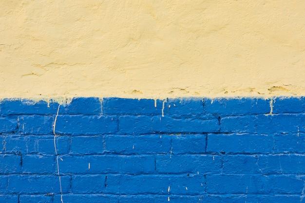 Mur De Ciment Avec Des Briques Peintes Photo gratuit