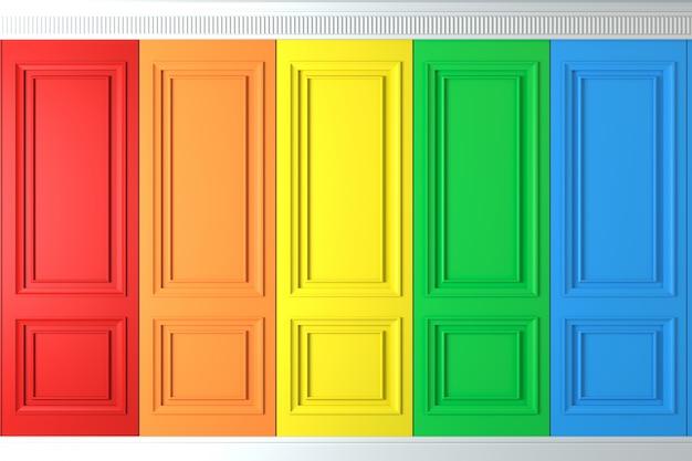 Mur classique de panneaux muraux multicolores Photo Premium